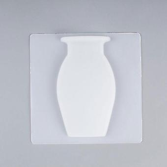 Wall Hanging Floret Bottle Silicone Vase Container Magic Sticker On Glass Plant