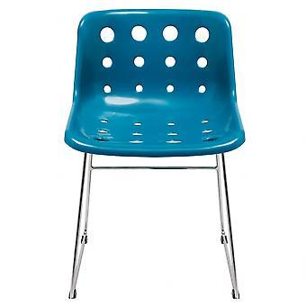 Loft Robin Day Skid Teal Plastic Polo Chair