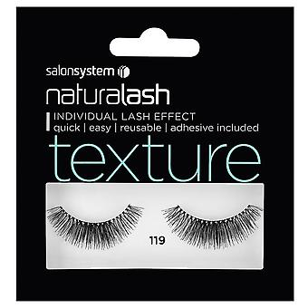 Salon System  Naturalash - Texture - No 119 Reusable Eyelashes - (adhesive Included)