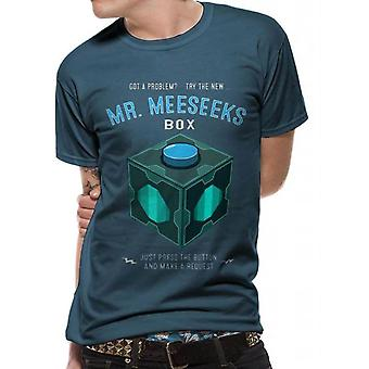 Heren's Rick en Morty Meeseeks Box Crew Neck T-shirt