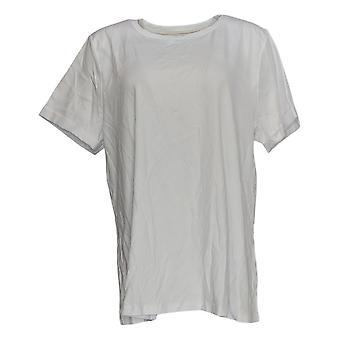 إسحاق مزراحي لايف! Women's Top Pima Cotton Rolled Sleeve White A354985