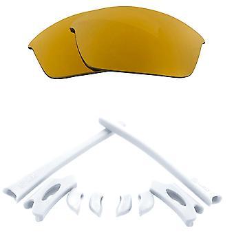 Polarisierte Ersatz Linsen Kit für Oakley Flak Jacke Gold Spiegel weiß Anti-Scratch Anti-Glare UV400 von SeekOptics