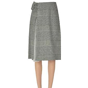 Ermanno Scervino Ezgl078067 Women's White/black Wool Skirt