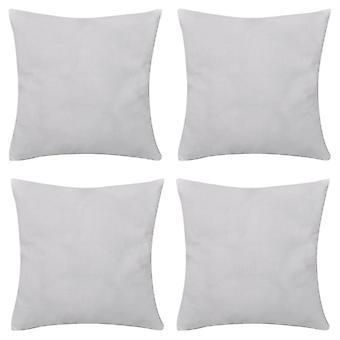 4 fronhas brancas algodão 80 x 80 cm