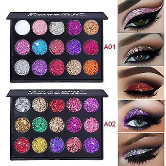Diamond Glitter Eyeshadow Pallete, Shimmer Fashion Beauty Eyes Makeup Powder