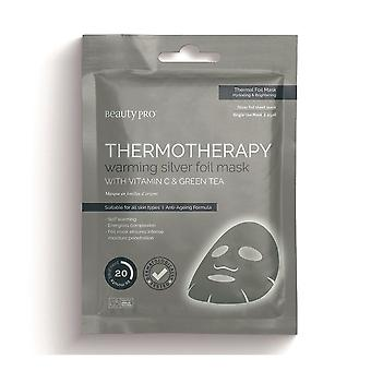 Beauty Pro Thermotherapy Warming Silver Foil Face Mask