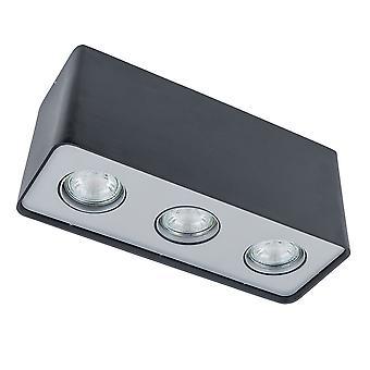 Moderne Surface Mounted Black 3 Light LED, GU10