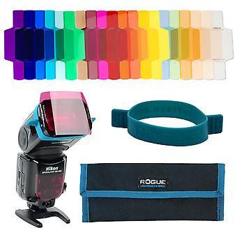 Rogue geler - universel belysning filter kit flash geler combo filter kit