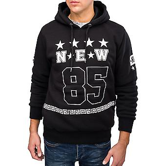 Men Print Hoodie SPORTS Pullover Hooded Sweatshirt Soft Touch Material Warming