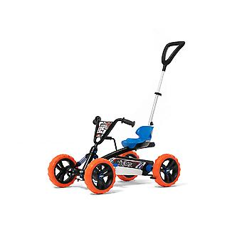 BERG blue/orange buzzy nitro 2-in-1 pedal go kart with parental push bar