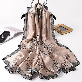 Luxury New Summer Women Silk Scarf Beach Hijab Shawls Wraps Female Foulard