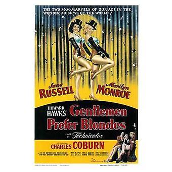 Gentlemen Prefer Blondes c1953 - style A Movie Poster (11 x 17)
