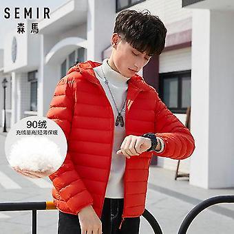 Jacket Men Casual Fashion Winter Hooded Windbreaker Duck Down Coat Male