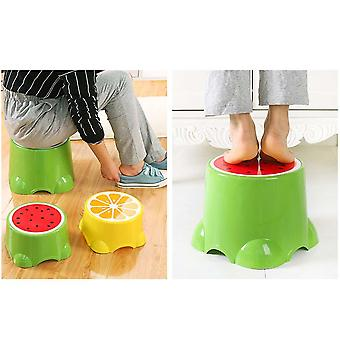 Fruit Pattern Living Room Non-slip Bath Bench/cartoon Child Stool