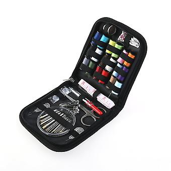 Sewing Kit Set 58 Pieces - Compact Sewing Kit For Home Travel And Emergency With Black Carrying Bag