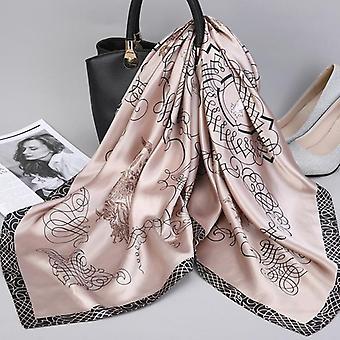 أزياء Kerchief الحرير الساتان وشاح الرقبة الحجاب