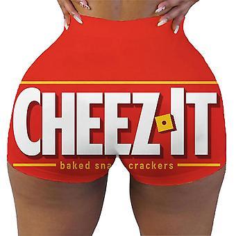 Nové Sexy Letní Slim Krátký tisk Hip-hop Venkovní sportovní kalhoty