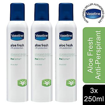 Vaseline Aloe Sensitive Anti-Perspirant for Women, Pack of 3, 250ml