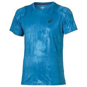 Asics fuzeX Painettu Tee Running Gym Training T-paita Sininen 129928 2068