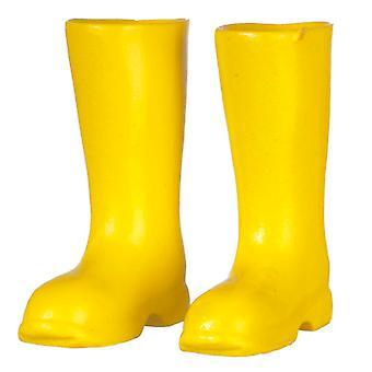 Dolls House Yellow Wellington Boots Wellies 1:12 Garden Accessory