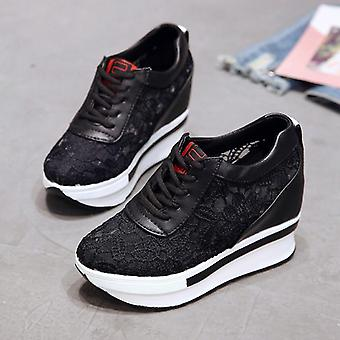 New Lace Breathable Comfortable Casual Women Platform Wedge Shoes