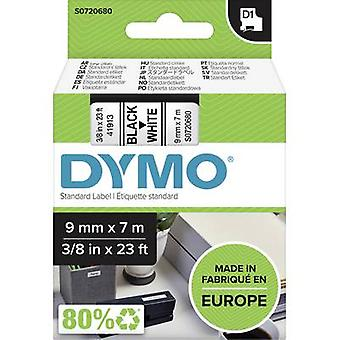 Etikettering tape DYMO D1 40913 Tape kleur: wit lettertype kleur: zwart 9 mm 7 m
