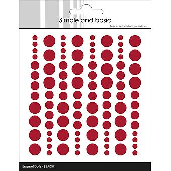 Simple and Basic Adhesive Enamel Dots Chili Red