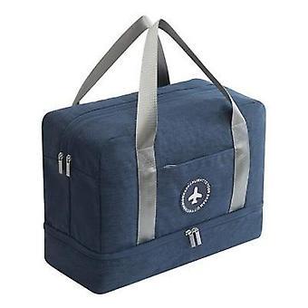 السفر حقيبة اللياقة البدنية Tas حقائب يد النساء النايلون حقيبة الأمتعة مع جيب الأحذية