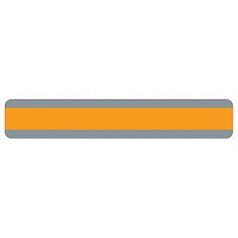 """Guida alla lettura della striscia a doppia frase larga, 1,25"""" X 7,25"""", arancione"""