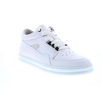 Camper Runner Four Mens White Leather Euro Sneakers Chaussures