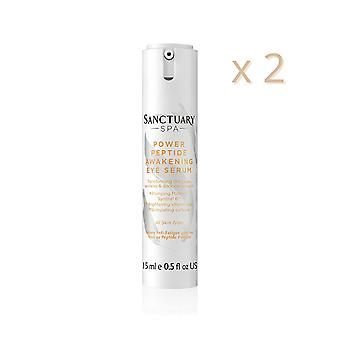2 x Sanctuary Spa Power Peptide Awakening Eye Serum 15ml