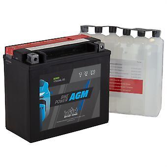 intAct YTX20HL-BS Maintenance Free AGM Bike-Power Battery