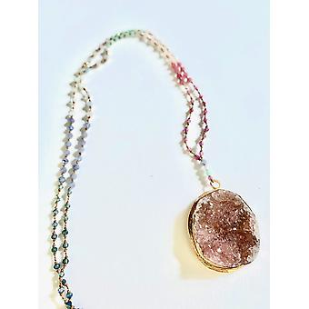 Necklace~ruby, Morganite, Chrysophrase, Amazonite