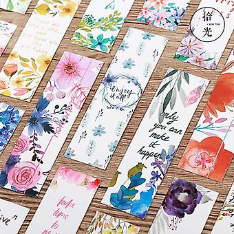 Cartes de message/beaux signets de Patter de fleurs