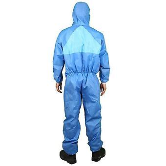 Wegwerp overall beschermende kleding met capuchon stofdicht ademende veiligheid