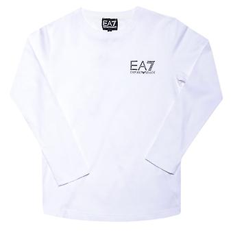 Boy's Emporio Armani EA7 Junior Long Sleeve T-Shirt in White