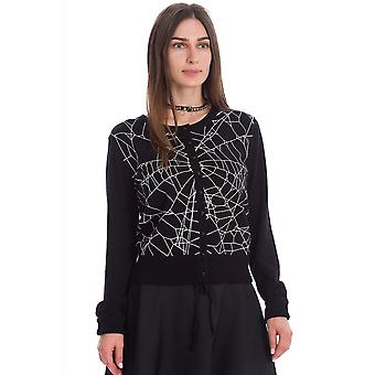 Banned Apparel Creepy Spider Cardigan