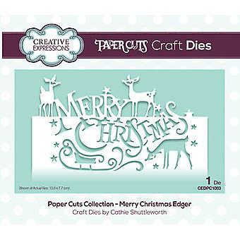 Expressões Criativas Corte de Papel Corte De Corte Morre - Feliz Natal