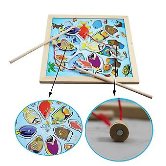 Magnetic Play Water Wooden Fishing Board Set