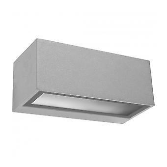 Aplique Fluorescente Micenas, Aluminio Y Vidrio, Gris
