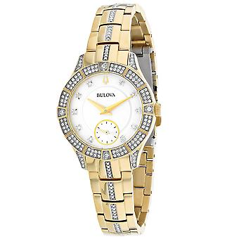 Bulova Women's Classic White Dial Watch - 98L283