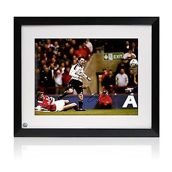 Ryan Giggs Manchester United unterschrieben Foto: FA Cup Semifinale Wonder Goal. Gerahmt