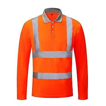 Unisex High Visibility Heijastava Turvallisuus T-paita Pitkähihaiset työvaatteet