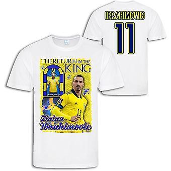 Zlatan Ibrahimovic Zweden t-shirt met Return of the king print