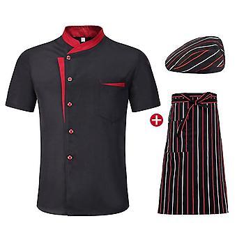 Pánske krátke rukávy Priedušné chef bundy, Letná kuchyňa Pracovná uniforma