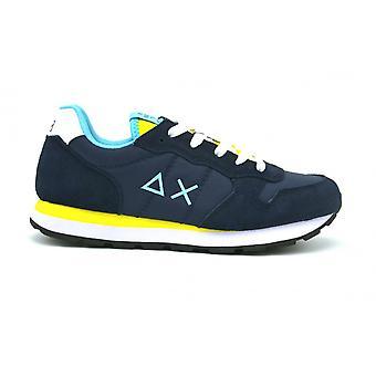 Shoes Baby Sun68 Sneaker Boy's Tom Solid Nylon Navy Blue/ Yellow Zs21su04 Z31301