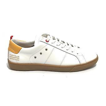 حذاء رياضي طموح للرجال 11490 في الجلد الأبيض / الأصفر US21am06