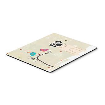 Caroline s Treasures Weihnachtsgeschenke, Mastiff weiße Maus Pad, mehrfarbig, 7.75x9.25 (Bb2489Mp)