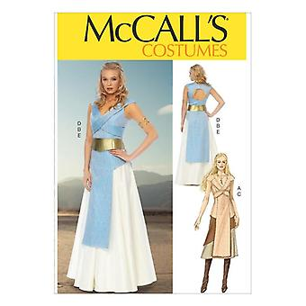 McCalls Schnittmuster 6941 Misses Spiel der Throne Kostüme Größe 4-12 ungeschnitten