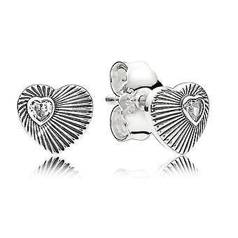 Les Fans de PANDORA Heart Vintage boucles d'oreilles - 297298CZ